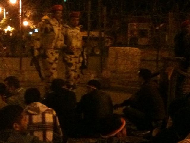 sit in tonight at the Presidential Palace in Cairo