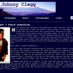 Johnny Clegg site screenshot
